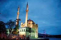 Ortakoy Mecidiye mosque and the Bosphorus bridge, Istanbul  Turkey  Istanbul, Turkey