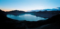 sky, landscape, scenery, lake, mountain