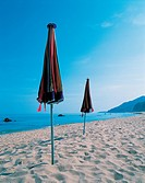 leisure, sand, view, parasol, seascape, sandybeach