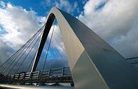 Hulme Arch Bridge in Manchester England