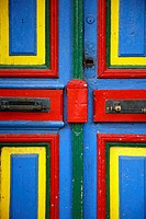 Colorful door on Caminito street in La boca  Buenos Aires, Argentina