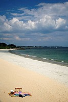 Beach in carnac, Morbihan Coast, Brittany, France