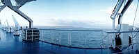 balustrade, blue, christoph, day, horizon, ocean