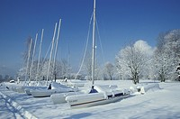 blue, boat, cold, day, free, frozen