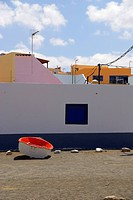 vacation by the sea, blue, boat, multicolored, colorful, colourful, colored