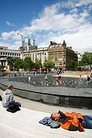 Piccadilly Gardens, Manchester, England, UK