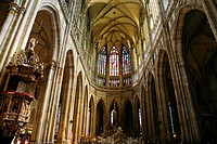 St  Vitus Cathedral inside the Castle, Hradcany the castle district, Prague, Czech Republic