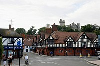 View of Arundell town and the Castle, England, UK