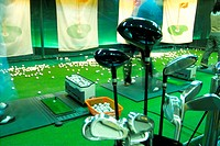 driving range, leisure, ball, club, golf, indoors, sports