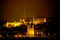 night view, scene, Budapest, Hungary, europe, tourist resort