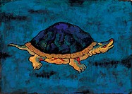 reptile, Orientalpainting, vertebrate, animal, turtle, reptiles, tradition