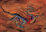 mythical, painting, myth, tradition, dragon, mythology, animal