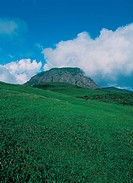 Field, sky, mountain, hill, cloud, scenery, background (thumbnail)