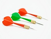 Green Dart Between Two Red Darts