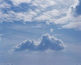 Blue sky, blue, clouds, scenic, natural world, cloud (thumbnail)