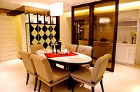 Home interior and furniture in modern style
