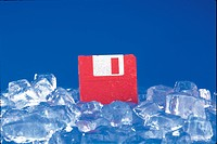 ice, object, floppydiskette