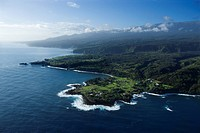 Aerial view of Maui, Hawaii coastline