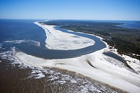 Aerial of coast at Cumberland Island National Seashore, Georgia