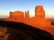 Scenic landscape of mesas in Monument Valley near the border of Arizona and Utah, United States