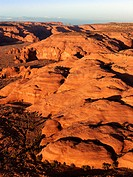 Scenic landscape of rock formations in Canyonlands, Canyonlands National Park, Utah, United States