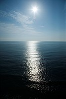 Sun reflecting in ocean