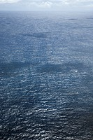 High angle view of ocean water