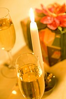 Champagne and Candle (thumbnail)