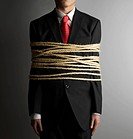 Businessman Tied with Rope (thumbnail)