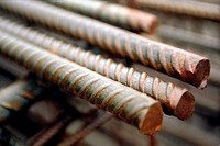 Detail of steel reinforcing bars
