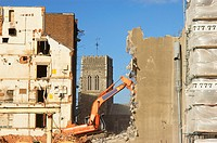 Building under demolition for a new property development (thumbnail)