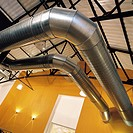 Ventilation pipes, air conditioning installation