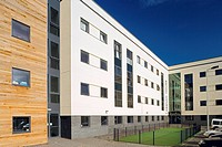 New property development using environmentaly friendly timber cladding features