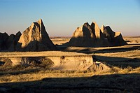 Landscape in Badlands National Park, South Dakota.