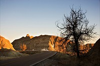 Scenic roadway in Badlands National Park, South Dakota (thumbnail)