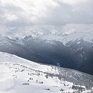 Scenic shot of moutain peaks in Whistler, Canada (thumbnail)