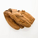 Baseball glove on white