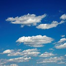 Peaceful clouds in blue sky
