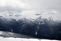 Scenic shot of moutain peaks in Whistler, Canada