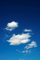 Sky with cumulus clouds