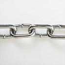 Chain links in a straight horizontal line