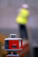 Close up of LP30 rotating laser level on tripod