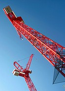 View of two Tower cranes