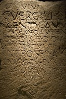 Script carved in stone in Capitoline Museum, Rome, Italy (thumbnail)