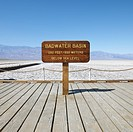 Badwater Basin sign in Death Valley National Park (thumbnail)