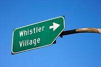 Sign for Whistler Village