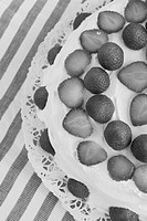 Edible, Black And White, Eatable, Decorated, Close_Up, Arrangement