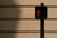 traffic signal, signal, sign, guide, pole, figure