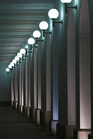 Column, Electric Light, Illuminated, In A Row, Indoors