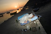 Bed, Beer Bottle, Blanket, Boat, Bottle